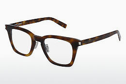 Óculos de design Saint Laurent SL 139 SLIM 002 - Castanho, Havanna