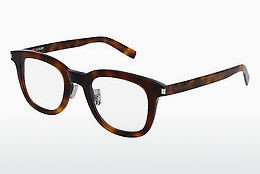 Óculos de design Saint Laurent SL 141/F SLIM 002 - Castanho, Havanna