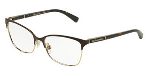 Dolce & Gabbana DG1268 1254 MATTE BROWN/PALE GOLD