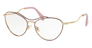 Miu Miu MU 53PV UA51O1 ANTIQUE GOLD/AMARANTH