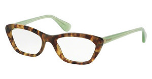Prada PR 03QV UEZ1O1 SPOTTED BROWN GREEN