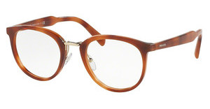 Prada PR 03TV USE1O1 STRIPED LIGHT BROWN