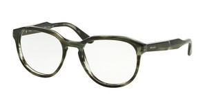 Prada PR 18SV UEP1O1 STRIPED GREY GREEN