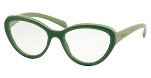 Prada PR 25RV TKQ1O1 MATTE OPAL GREEN ON GREEN