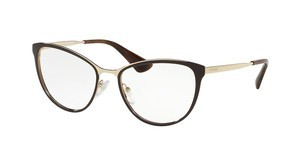 Prada PR 55TV DHO1O1 BROWN/PALE GOLD