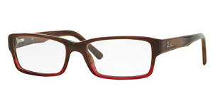 Ray-Ban RX5169 5541 BROWN HORN GRAD TRASP BORDEA