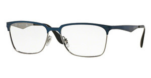 Ray-Ban RX6344 2863 TOP BRUSHED DARK BLUE ON GUNME