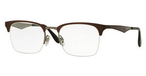 Ray-Ban RX6360 2862 TOP SHINY BROWN ON GUNMETAL
