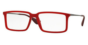 Ray-Ban RX7043 5468 RUBBER DEMI GLOSS RED