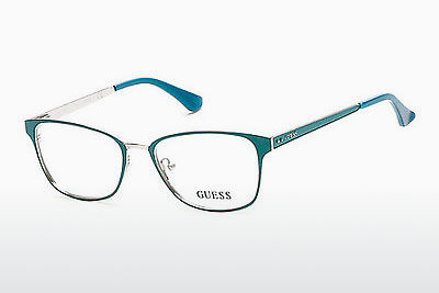 Óculos de design Guess GU2550 094 - Verde, Bright, Matt