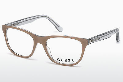 Óculos de design Guess GU2585 059 - Corno, Beige, Brown