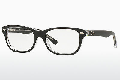 Óculos de design Ray-Ban Junior RY1555 3529 - Preto, Transparente