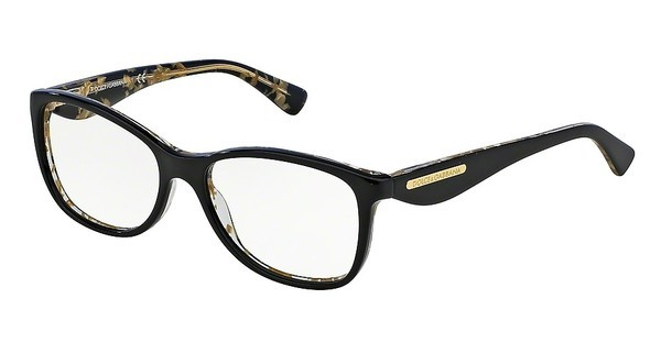 Dolce & Gabbana DG3174 2744 TOP BLACK ON LEAF GOLD
