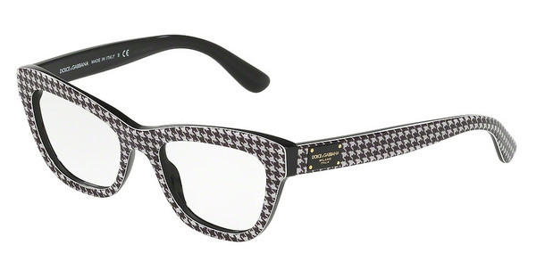 Dolce & Gabbana DG3253 3079 PIED DE POULE ON BLACK
