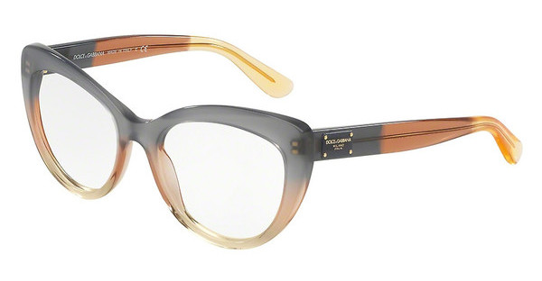 Dolce & Gabbana DG3255 3074 GRAD BROWN/CARAMEL/YELLOW