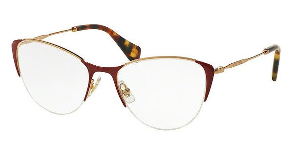 Miu Miu MU 50OV UA41O1 ANTIQUE GOLD/RED
