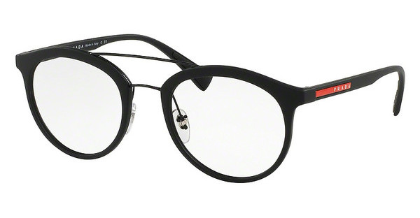 Prada Sport PS 01HV DG01O1 BLACK RUBBER