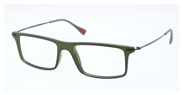 Prada Sport PS 03EV ROS1O1 MILITARY GREEN DEMI SHINY