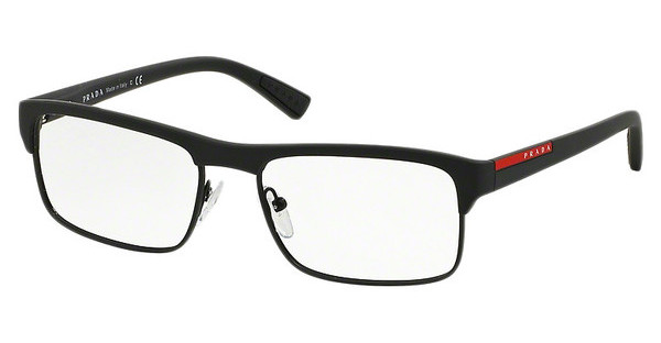 Prada Sport PS 06FV DG01O1 BLACK RUBBER