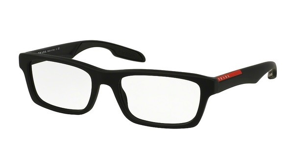 Prada Sport PS 07CV DG01O1 BLACK RUBBER