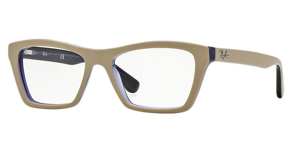 Ray-Ban RX5316 5387 TOP MATTE BEIGE ON TRAS VIOLET