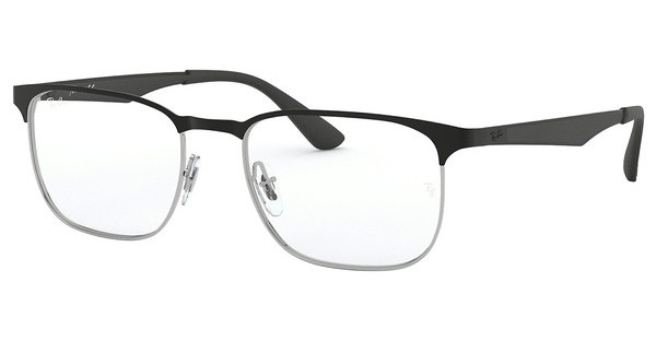 Ray-Ban RX6363 2861 SILVER TOP ON BLACK