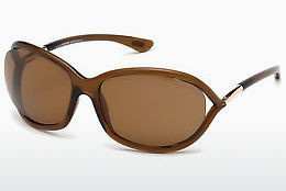 Óculos de marca Tom Ford Jennifer (FT0008 48H) - Castanho, Dark, Shiny