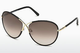 Óculos de marca Tom Ford Rosie (FT0344 01B) - Preto, Shiny