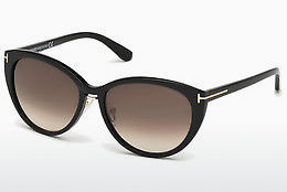 Óculos de marca Tom Ford Gina (FT0345 01B) - Preto, Shiny
