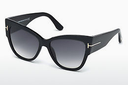 Óculos de marca Tom Ford Anoushka (FT0371 01B) - Preto, Shiny