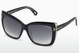 Óculos de marca Tom Ford Irina (FT0390 01B) - Preto, Shiny