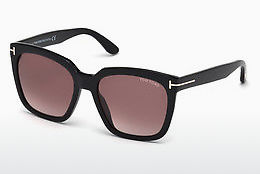 Óculos de marca Tom Ford Amarra (FT0502 01T) - Preto, Shiny