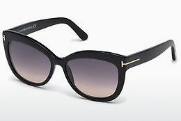 Óculos de marca Tom Ford Alistair (FT0524 01B) - Preto, Shiny