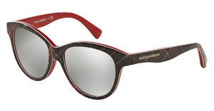 Dolce & Gabbana DG4176 29886G LIGHT GREY MIRROR SILVERCHECK RED/BLUE/RED