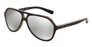 Dolce & Gabbana DG4201 29526G LIGHT GREY MIRROR SILVERCAMO/FLUO RED/BROWN