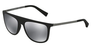 Dolce & Gabbana DG6107 28056G LIGHT GREY MIRROR BLACKBLACK RUBBER