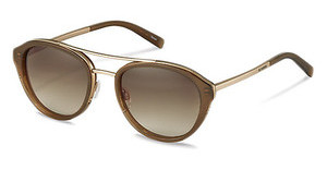 Jil Sander J1007 D sun protect brown gradient - 77%brown, gold