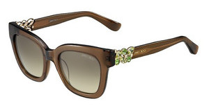 Jimmy Choo MAGGIE/S A2K/6P BROWN FL GOLDTRN BROWN