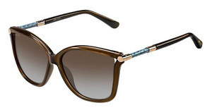 Jimmy Choo TATTI/S 8J9/TF BROWNBLU SS SLVTRN BROWN