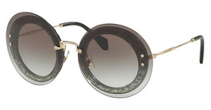 Miu Miu MU 10RS UES0A7 GREY GRADIENTTRANSPARENT/FABRIC GLITTER SIL