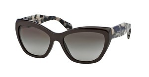 Prada PR 02QS DHO4M1 GREEN GRADIENTDARK BROWN