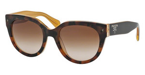 Prada PR 17OS FAL1Z1 BROWN GRADIENTTOP LIGHT HAVANA/OPAL YELLOW