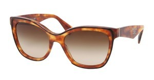 Prada PR 20PS NAK6S1 BROWN GRADIENTTOP HAVANA/LIGHT HAVANA