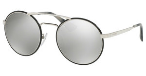 Prada PR 51SS 1AB2B0 LIGHT GREY MIRROR SILVERSILVER/BLACK