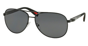 Prada Sport PS 51OS 1BO5Z1 POLAR GRAYDEMI-SHINY BLACK