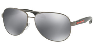 Prada Sport PS 53PS 5AV5L0 LIGHT GREY MIRROR BLACKGUNMETAL