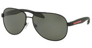 Prada Sport PS 53PS DG05X1 POLAR GREENBLACK RUBBER