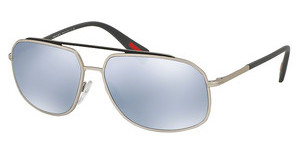 Prada Sport PS 56RS QFP5Q0 BLUE MIRROR WHITEGREY/STEEL RUBBER