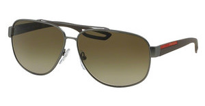 Prada Sport PS 58QS DG11X1 BROWN GRADIENTGUNMETAL RUBBER