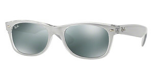 Ray-Ban RB2132 614440 GREEN MIRROR SILVERTOP BRUSHED SILVER ON TRANSP